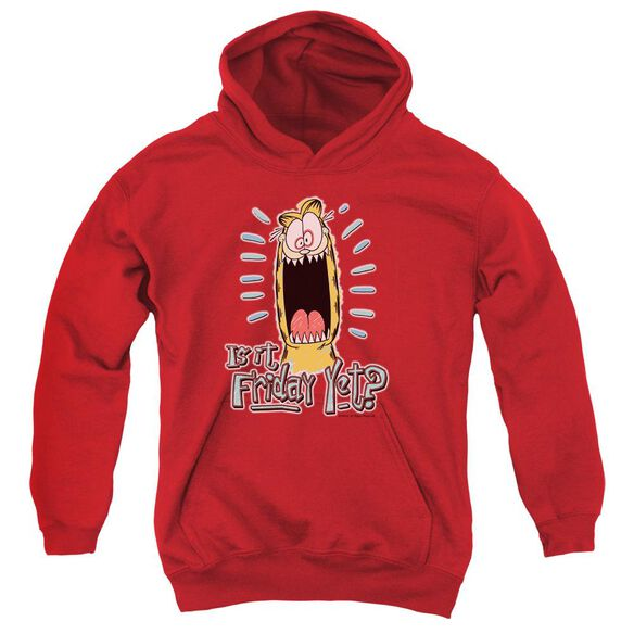Garfield Friday Youth Pull Over Hoodie