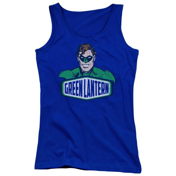 Dco Green Lantern Sign Juniors Tank Top Royal
