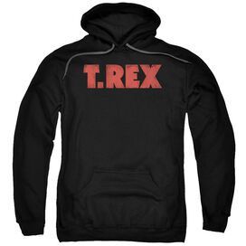 T Rex Logo Adult Pull Over Hoodie
