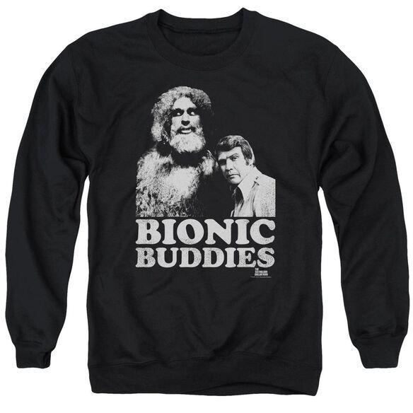 Six Million Dollar Man Bionic Buddies Adult Crewneck Sweatshirt