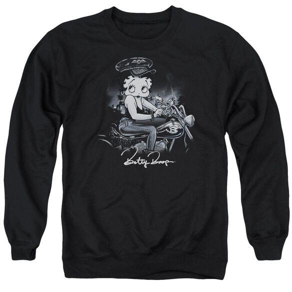 Betty Boop Storm Rider Adult Crewneck Sweatshirt