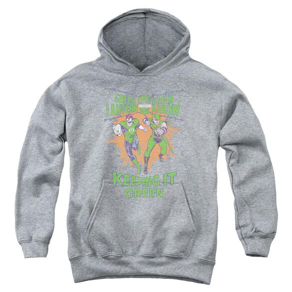 Green Lantern Keeping It Green Youth Pull Over Hoodie