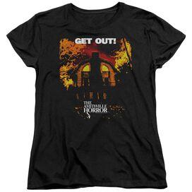 Amityville Horror Get Out Short Sleeve Womens Tee T-Shirt