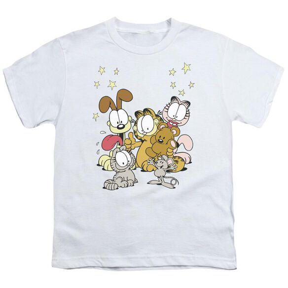 GARFIELD FRIENDS ARE BEST - S/S YOUTH 18/1 - WHITE T-Shirt