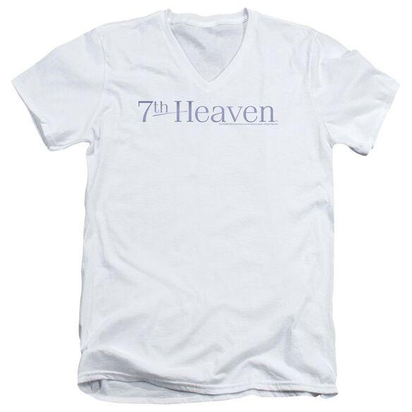 7 Th Heaven 7 Th Heaven Logo Short Sleeve Adult V Neck T-Shirt
