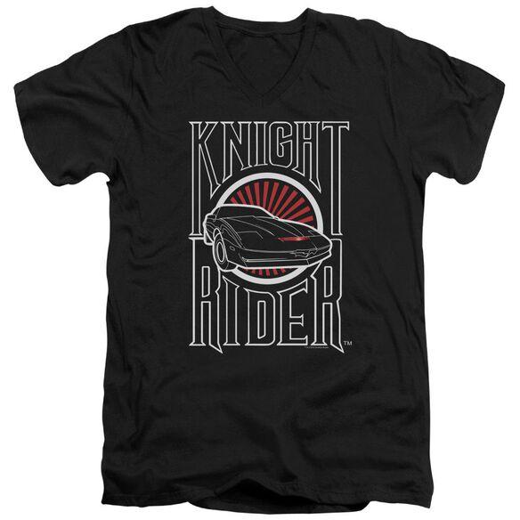 Knight Rider Logo Short Sleeve Adult V Neck T-Shirt