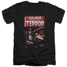 Zenoscope Terror Cover Short Sleeve Adult V Neck T-Shirt