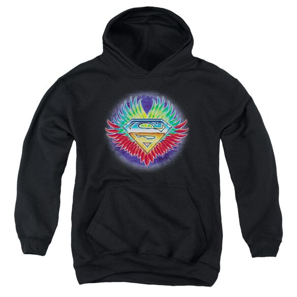 Superman Don't Stop Believing Youth Pull Over Hoodie