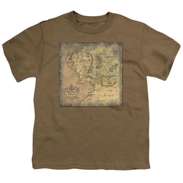 Lor Middle Earth Map Short Sleeve Youth Safari T-Shirt