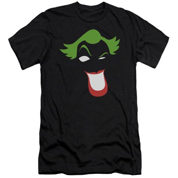 BATMAN JOKER SIMPLIFIED - S/S ADULT 30/1 - BLACK T-Shirt