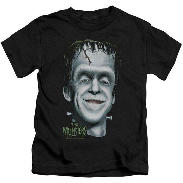 The Munsters Hermans Head Short Sleeve Juvenile Black T-Shirt