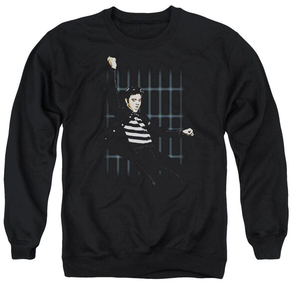 Elvis Blue Bars Adult Crewneck Sweatshirt