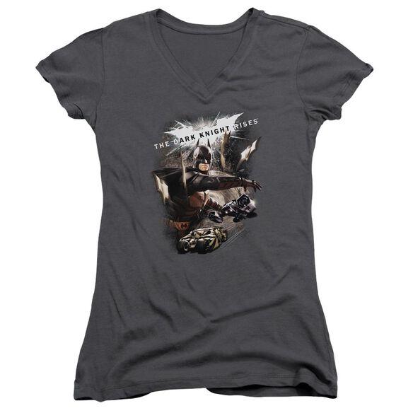 Dark Knight Rises Imagine The Fire Junior V Neck T-Shirt