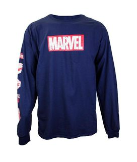 Marvel Block Logo Long Sleeve T-Shirt