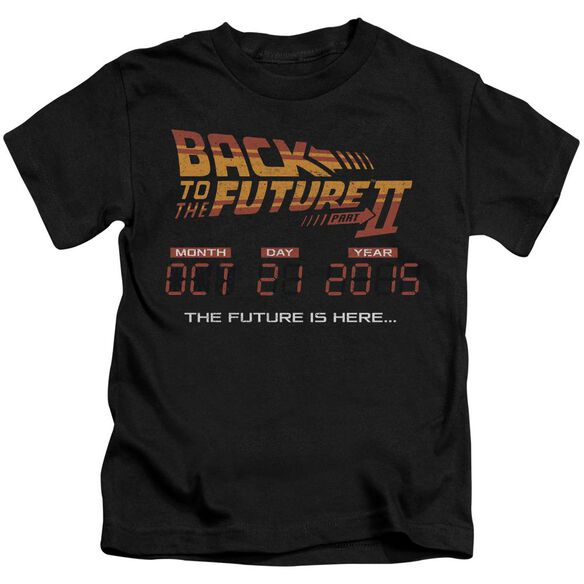 Back To The Future Ii Future Is Here Short Sleeve Juvenile Black Md Black Md T-Shirt