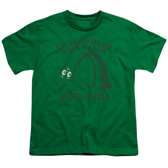 Gumby Bend Backwards Short Sleeve Youth Kelly T-Shirt