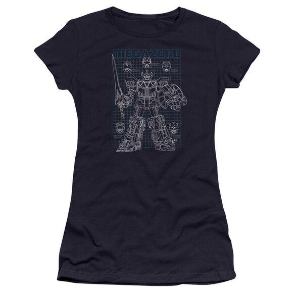 Power Rangers Mega Plans Hbo Short Sleeve Junior Sheer T-Shirt