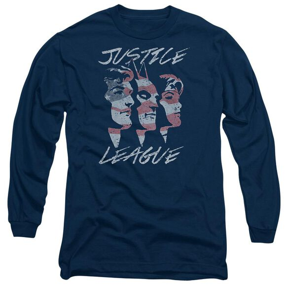 Jla Justice For America Long Sleeve Adult T-Shirt