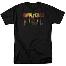 Dawn Of The Dead Walking Dead Short Sleeve Adult Black T-Shirt
