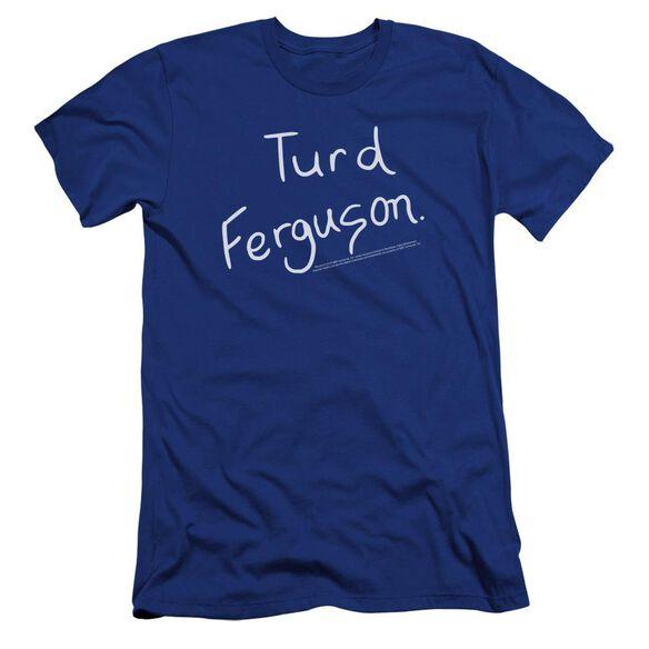Snl Turd Ferguson Premuim Canvas Adult Slim Fit Royal