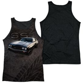Chevrolet Muscle Chevelle Ss Adult Poly Tank Top Black Back