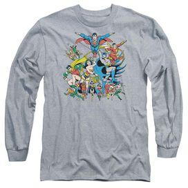 Dc Justice League Assemble Long Sleeve Adult Athletic T-Shirt