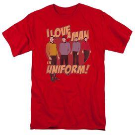 STAR TREK MAN IN UNIFORM-S/S ADULT 18/1 - RED T-Shirt