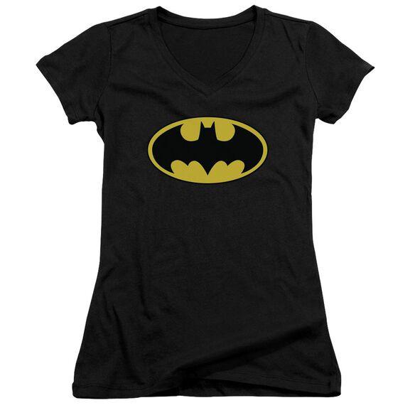 Batman Classic Logo Junior V Neck T-Shirt