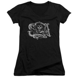 Sons Of Anarchy Charming Ca Junior V Neck T-Shirt