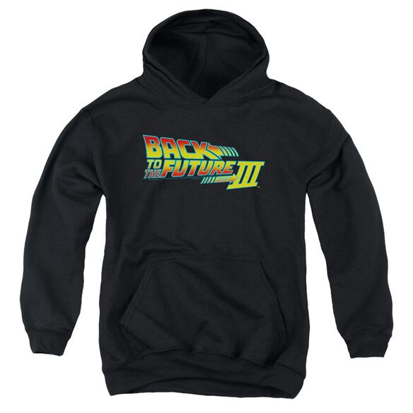 Back To The Future Iii Logo Youth Pull Over Hoodie