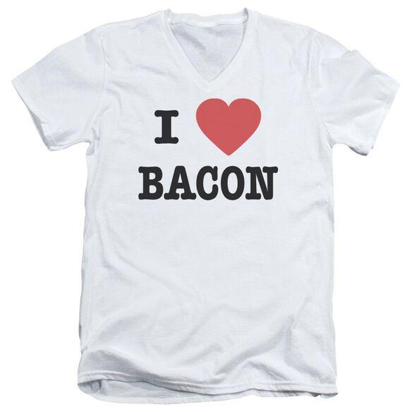 I Heart Bacon Short Sleeve Adult V Neck T-Shirt