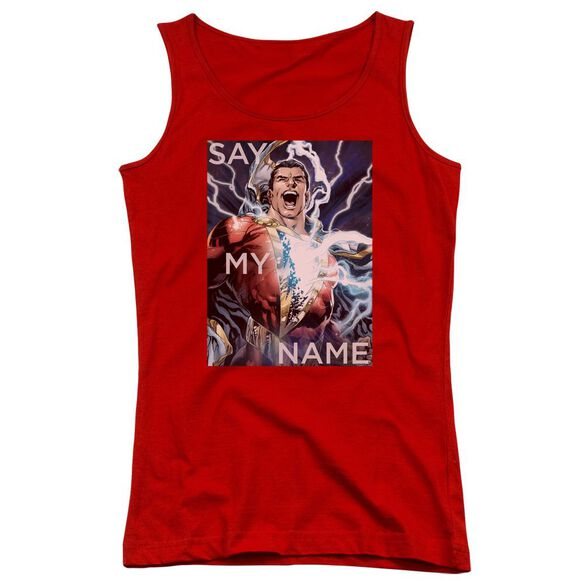 Jla Say My Name Juniors Tank Top