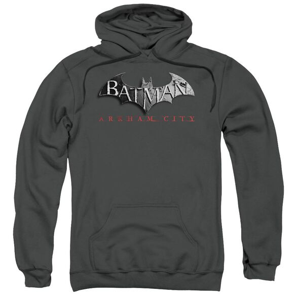 Arkham City Logo Adult Pull Over Hoodie