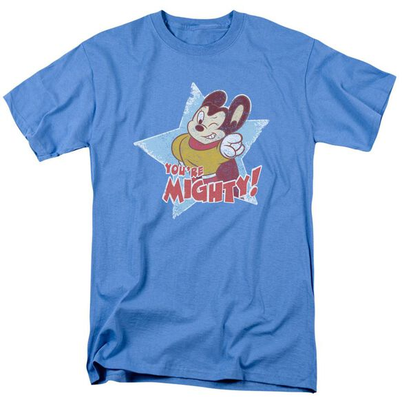 Mighty Mouse Youre Mighty Short Sleeve Adult Carolina T-Shirt