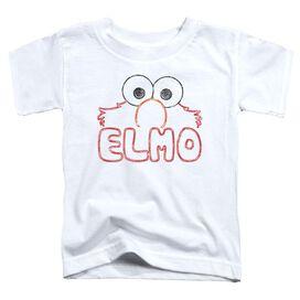 Sesame Street Elmo Letters Short Sleeve Toddler Tee White T-Shirt