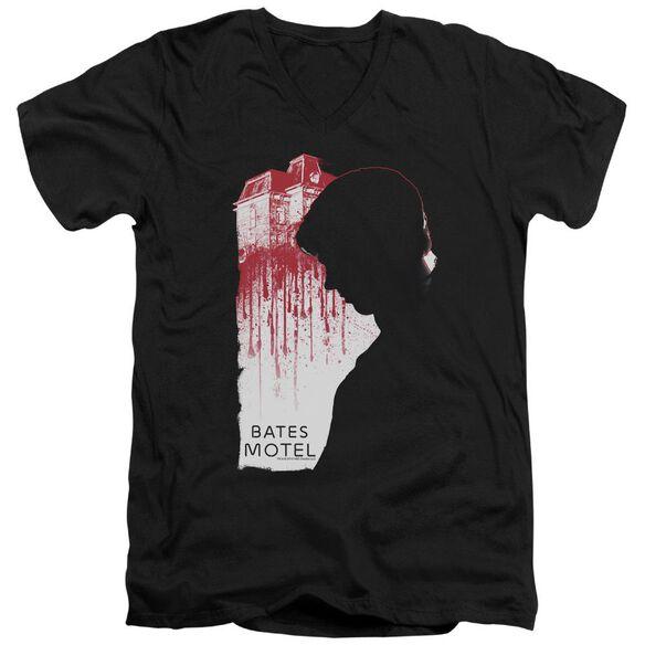 Bates Motel Criminal Profile Short Sleeve Adult V Neck T-Shirt