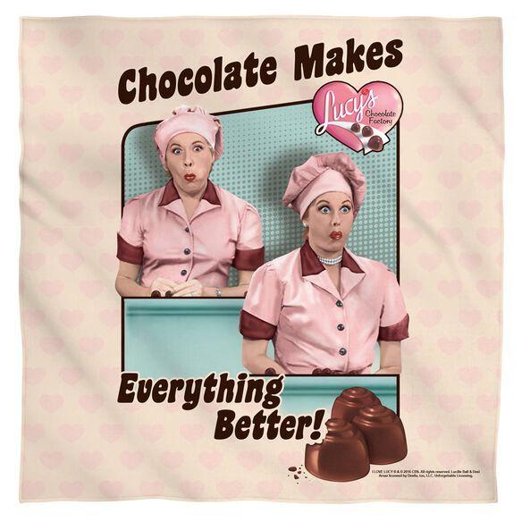 I Love Lucy Friends And Chocolate Bandana White