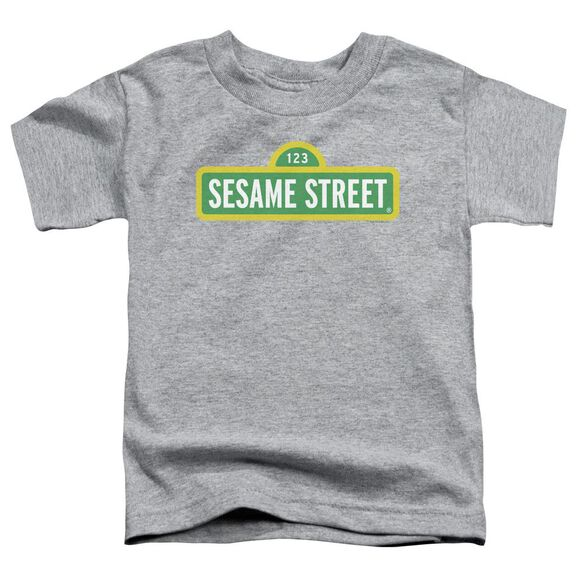 Sesame Street Logo Short Sleeve Toddler Tee Athletic Heather T-Shirt