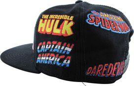 Marvel Character Names Snapback Hat