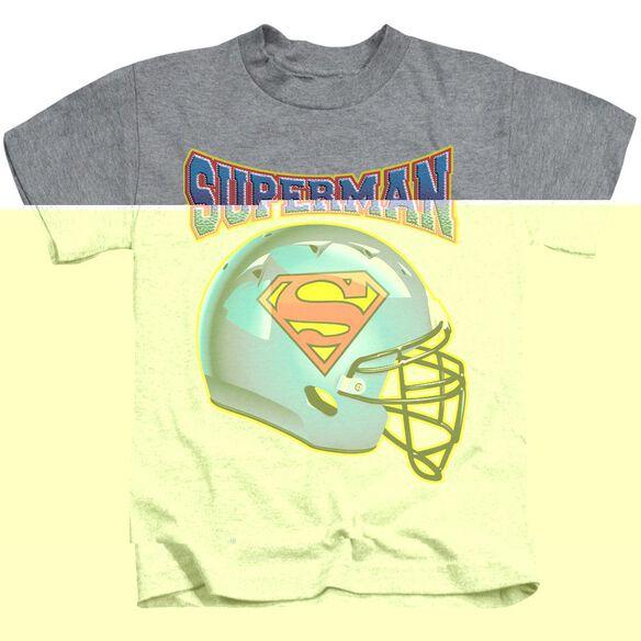 SUPERMAN HELMET - S/S JUVENILE 18/1 - ATHLETIC HEATHER - T-Shirt