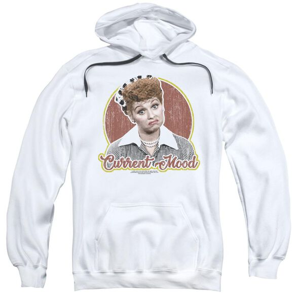 I Love Lucy Current Mood Adult Pull Over Hoodie