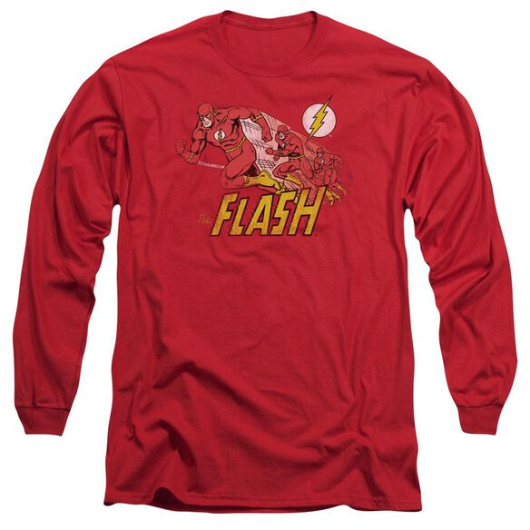 Dc Crimson Comet Long Sleeve Adult T-Shirt
