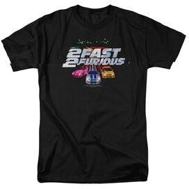 2 FAST 2 FURIOUS LOGO - S/S ADULT 18/1 - BLACK - XL T-Shirt
