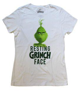 Resting Grinch Face Juniors T-Shirt
