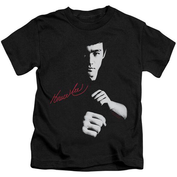 Bruce Lee The Dragon Awaits Short Sleeve Juvenile Black Md T-Shirt