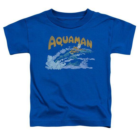 Dc Aqua Swim Short Sleeve Toddler Tee Royal Blue Sm T-Shirt