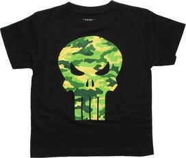 Punisher Camo Logo Glow in the Dark Youth T-Shirt