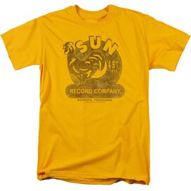 Sun Sun Record Short Sleeve Adult T-Shirt