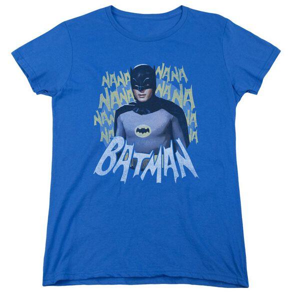 Batman Classic Tv Theme Song Short Sleeve Womens Tee Royal T-Shirt