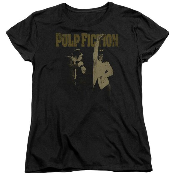 Pulp Fiction I Wanna Dance Short Sleeve Womens Tee T-Shirt